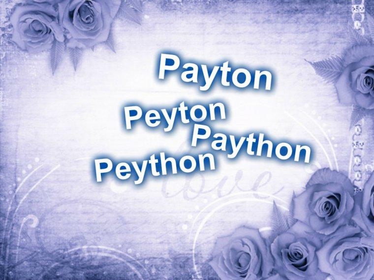 Payton, Peyton, Peython, Paython, ...