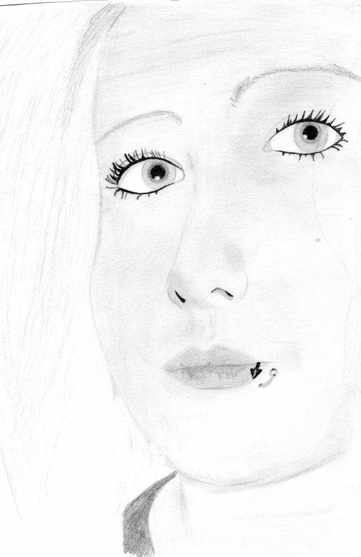 Portrait d'une amie, crayon B, et H.