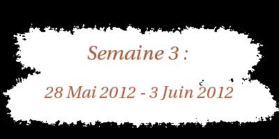28 Mai 2012 - 3 Juin 2012
