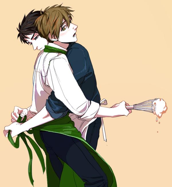 Souske et Makoto, yaoi
