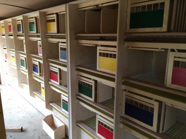 Installation des casiers