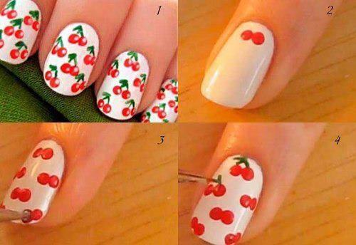 """Nail Art  """"Cerise"""""""