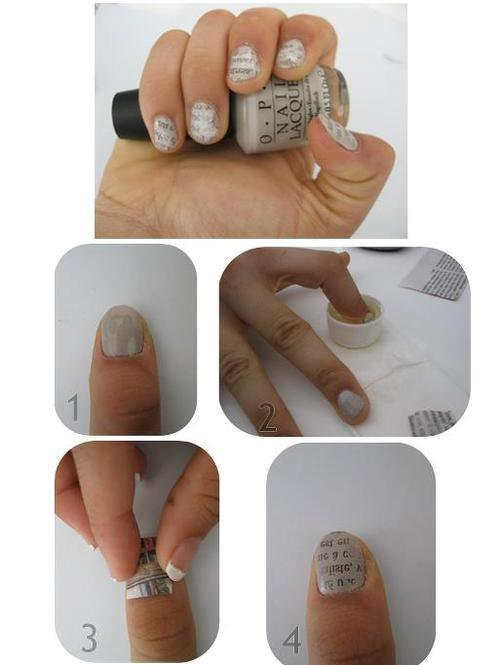 "Nail Art ""Papier Journal"""