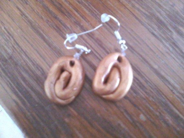 Boucles d'oreille en pâte fimo