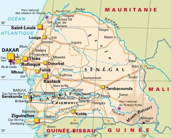 LOCALISATION ET POSITION DU SENEGAL A TRAVERS LE MONDE