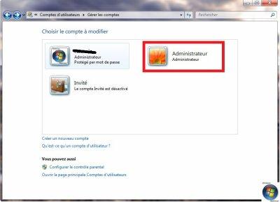 Astuce Windows 7, Vista  Activer le compte grand administrateur