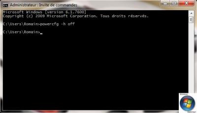 Astuce Windows 7, Vista,XP  Désactiver la mise en veille prolongée pour gagner de l'espace disque