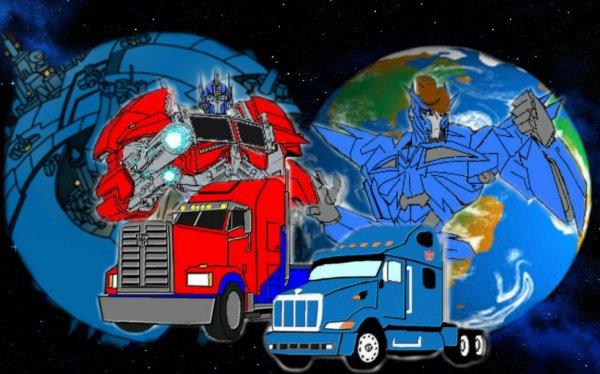 Optimus Prime et Junior Zeta Prime Cybertron et la Terre
