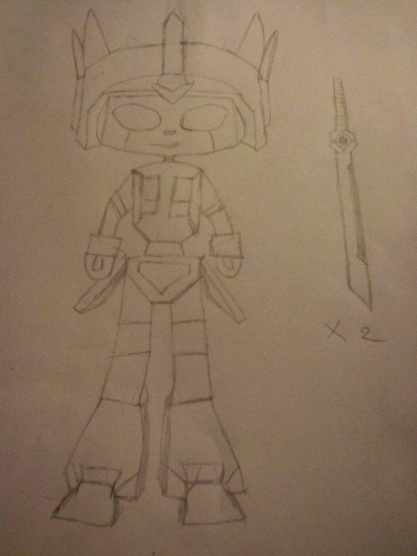 Le jeune Samouraï Prime avec ses sabres