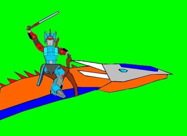 Samurai Prime et le Dragon Lightwing Prime