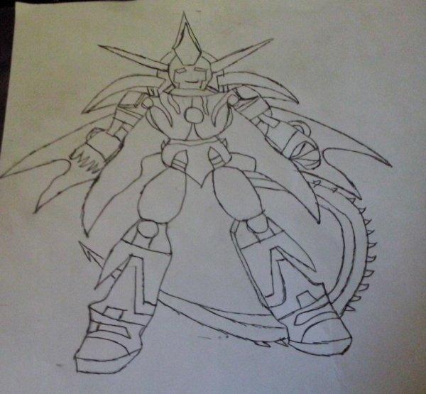 Mon dessin robot dans son mode dragon