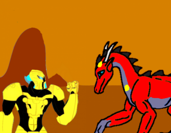 Mata Nui et Lightwing Prime