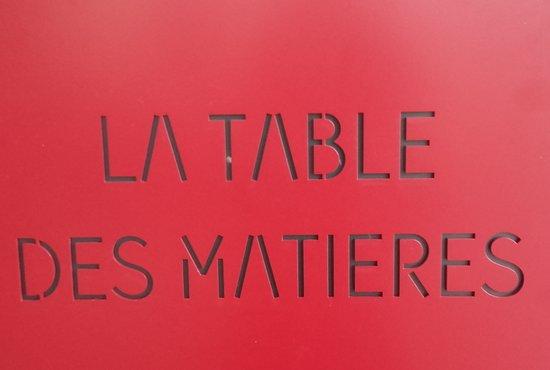 TABLE DES MATIÈRES ...