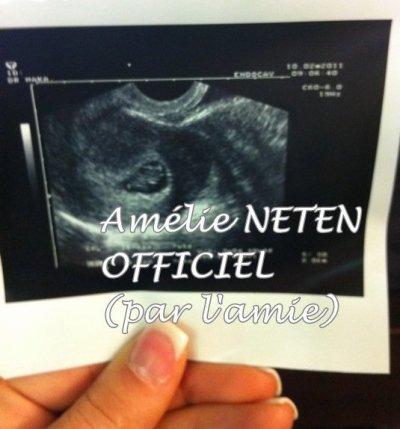 Amélie nous confirme que elle et enceinte