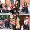 Jessica et son mari  ont été vus profiter de leur après-midi à jouer avec leurs filles dans un parc à Los Angeles le 9 Novembre