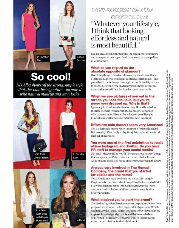 Jessica couvre numéro de Décembre de style pour tous Magazine .