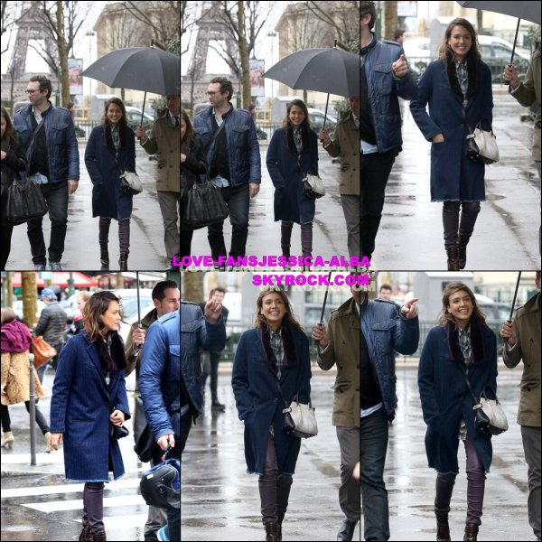 Jessica a été vu s'arrêter au salon de thé Carette alors qu'elle se promenait dans Paris , France plus tôt aujourd'hui.