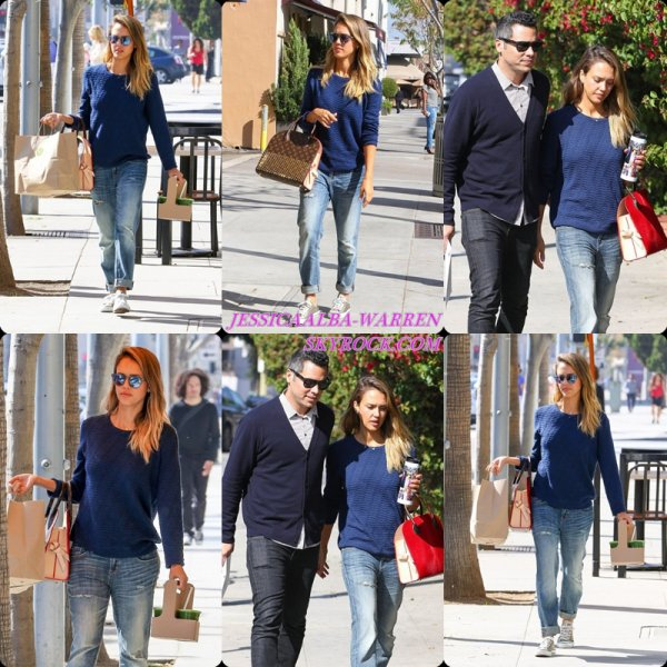 31/01/2015 : La famille Warren se rendant au Whole Foods à Beverly Hills.