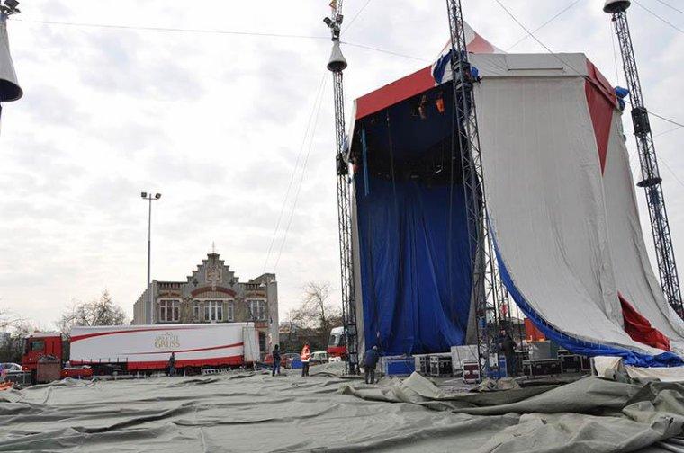 Arlette Gruss > Le montage à Dunkerque