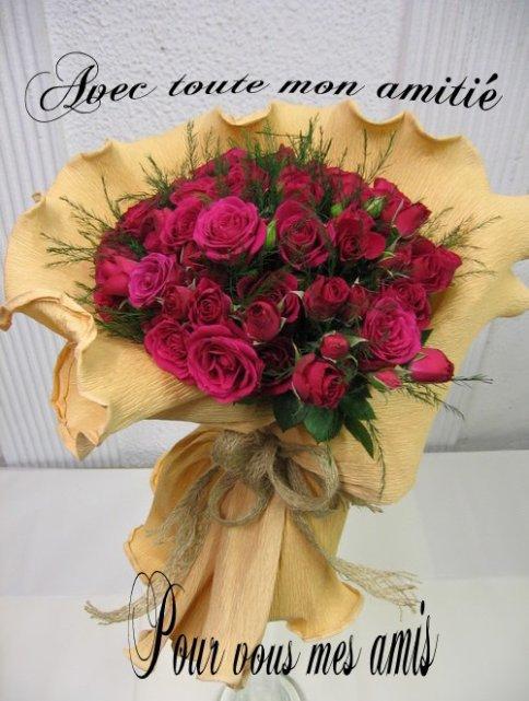 pour vous mes ami es ce joli bouquet de fleurs bisous. Black Bedroom Furniture Sets. Home Design Ideas
