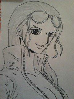 Nico Robin 2 ans plus tard ^3^~♡ (mon dessin #1)