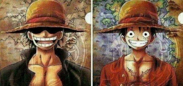 Gol D. Roger, le roi des pirates et son successeur Monkey D. Luffy
