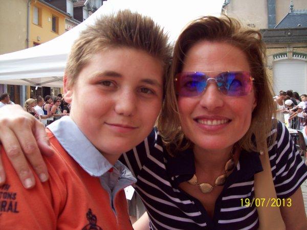 Sous le soleil.christine Lemler toujours avec mon fils.