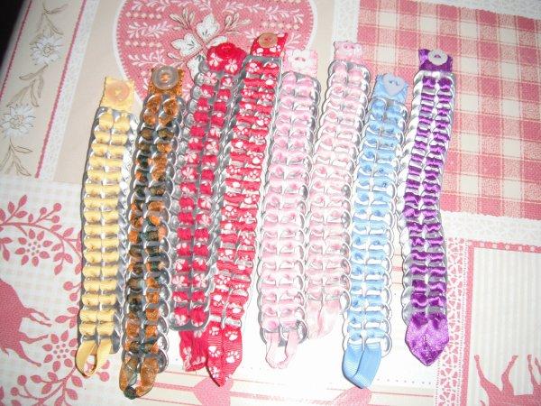 mes bracelets à capsules.