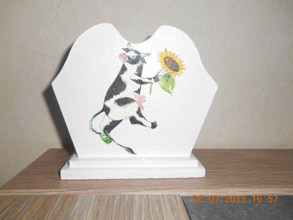 un serviettage de vache .