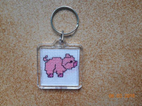 porte clé cochon
