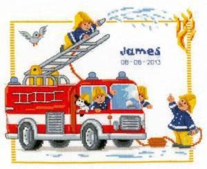 je dois broder un camion de pompier avant le 21 août qui peut m'aide a trouver une grille .