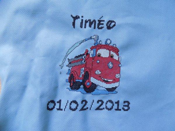 broderie camion de pompier terminé aussi.