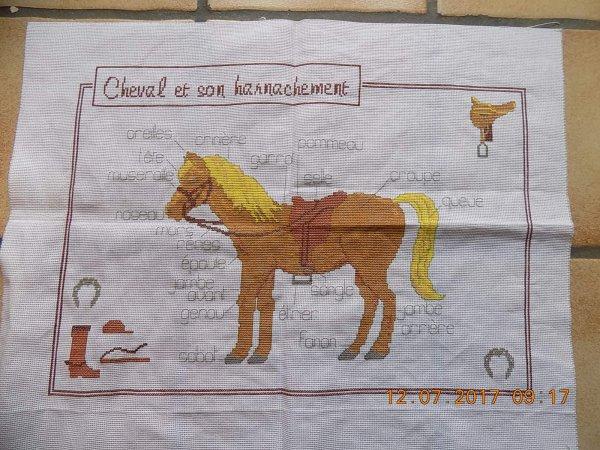 broderie d'un cheval pour une nièce terminer.