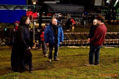 Alan pendant le tournage du Prince de sang-mêlé