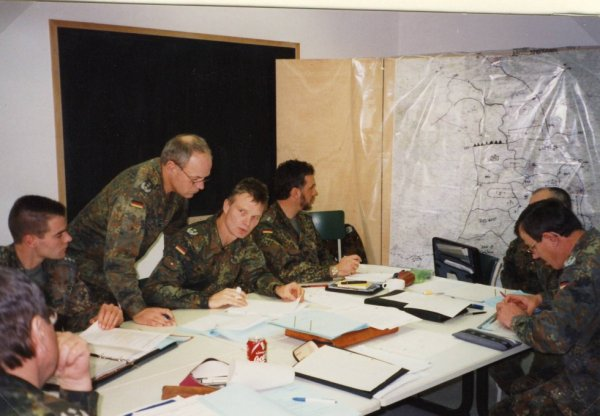 Teilnahme an der Führungsübung der LogBrig 2 vom 08.-09.12.1998