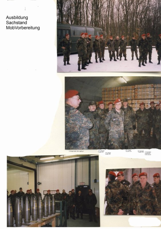 Bericht über den Sachstand der Mobilmachungsvorbereitung der  nicht aktiven Truppenteile der LogBrig 2 vom 18. - 19.02.2000 in Kriegsfeld