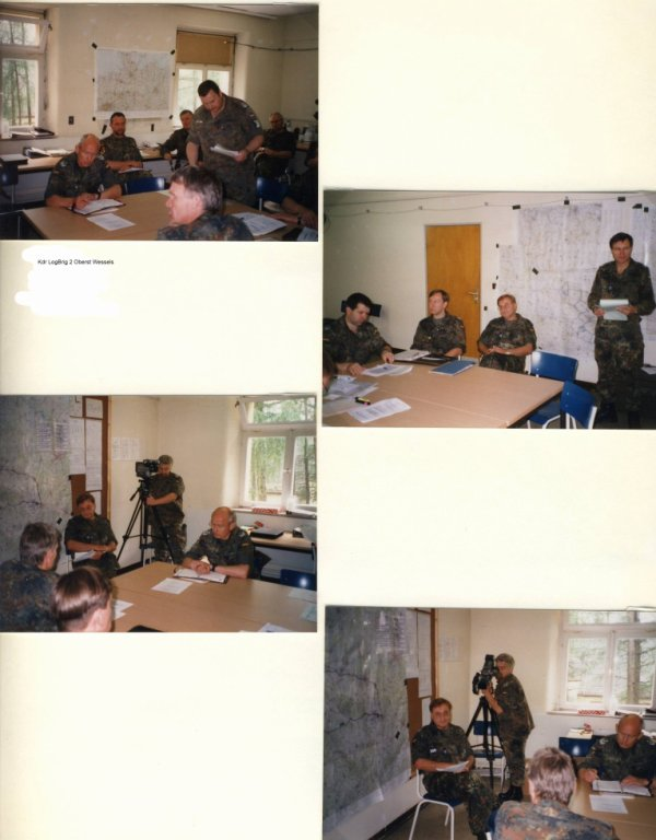 Mobilmachungsübung LogRgt 22 zur Teilnahme an der Führungsübung der LogBrig 2 vom 29.05.- 03.06. 2000 in der Rhönkaserne in Wildflecken