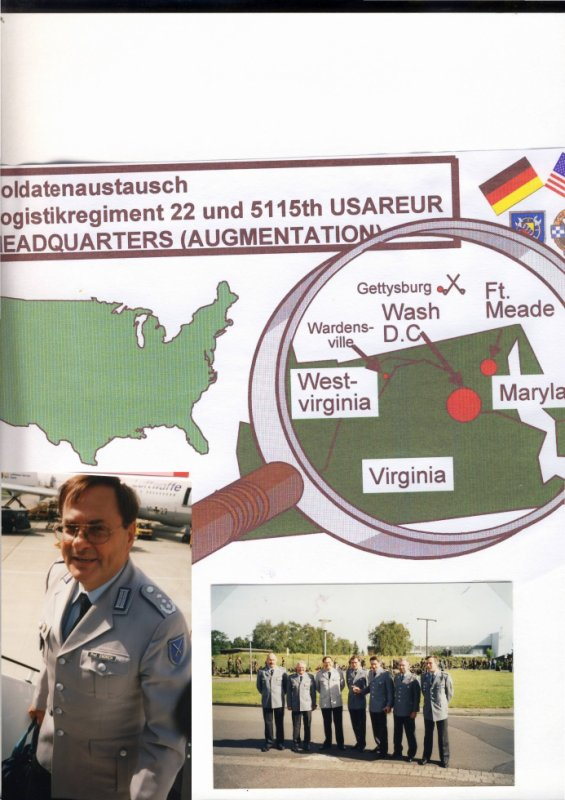 Partnershiptraining with 5115th Garrison Support Unit in Fort Meade Maryland (USA) vom 12.-25.Juni 2000