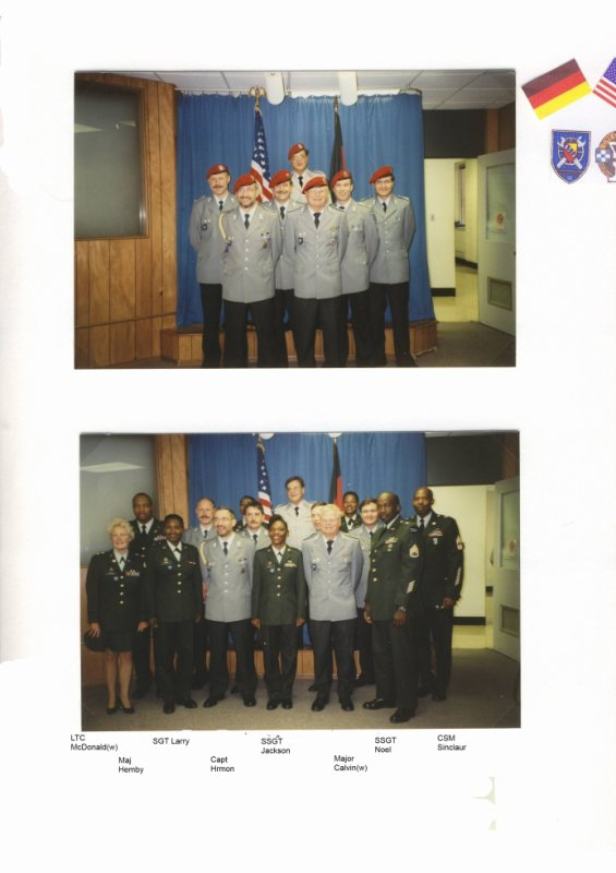 Partnershiptraining 13.Juni 2000 in Fort Meade
