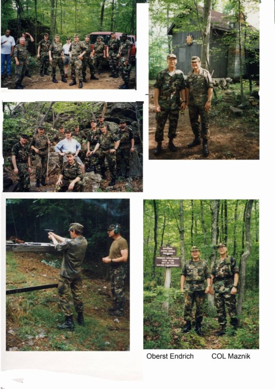 Partnershiptraining in den Blue Ridge Mountains West Virginia vom 16.-18. Juni 2000