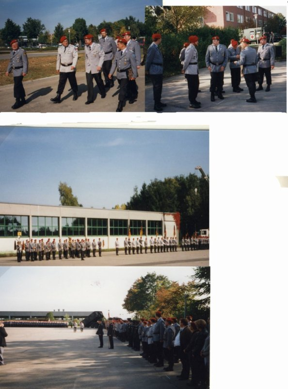 Kommandoübergabe beim Patenregiment Logistikregiment 21 am 28.9.2000 in Dornstadt