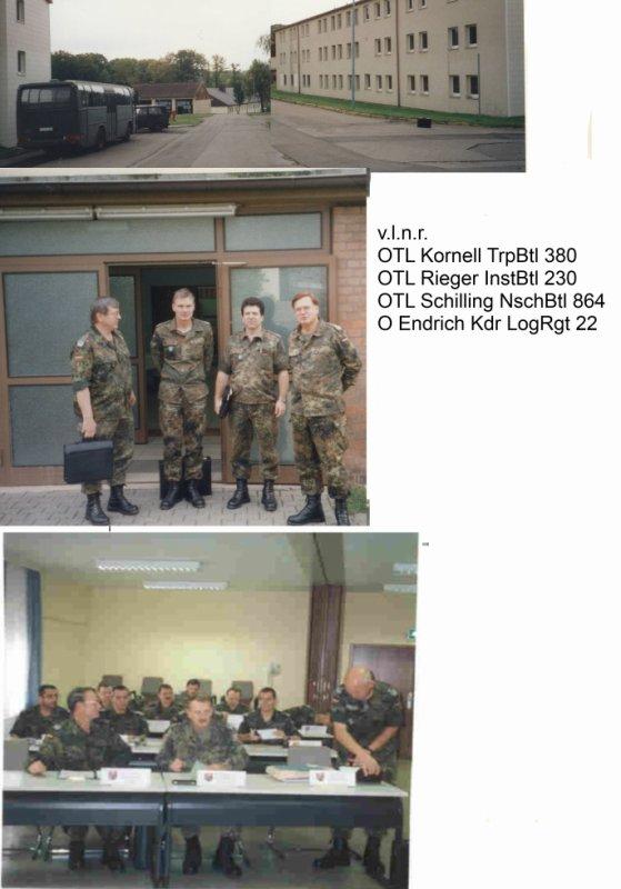 Sachstandsbesprechung der Mobilmachungsvorbereitung der naTrTle am 13.-14.10.2000 im MunDep Kriegsfeld