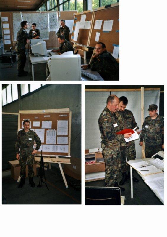 """Mobilmachungsübung LogRgt 22 Stabsrahmenübung """"Frischer Wind 6"""" vom 02.-11.Mai 2001"""