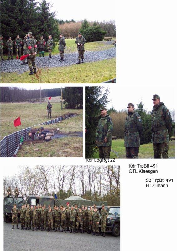 Dienstaufsicht bei Truppenwehrübung TrspBtl 491 am 19.-20.03.2002 auf dem Truppenübungsplatz in Daaden
