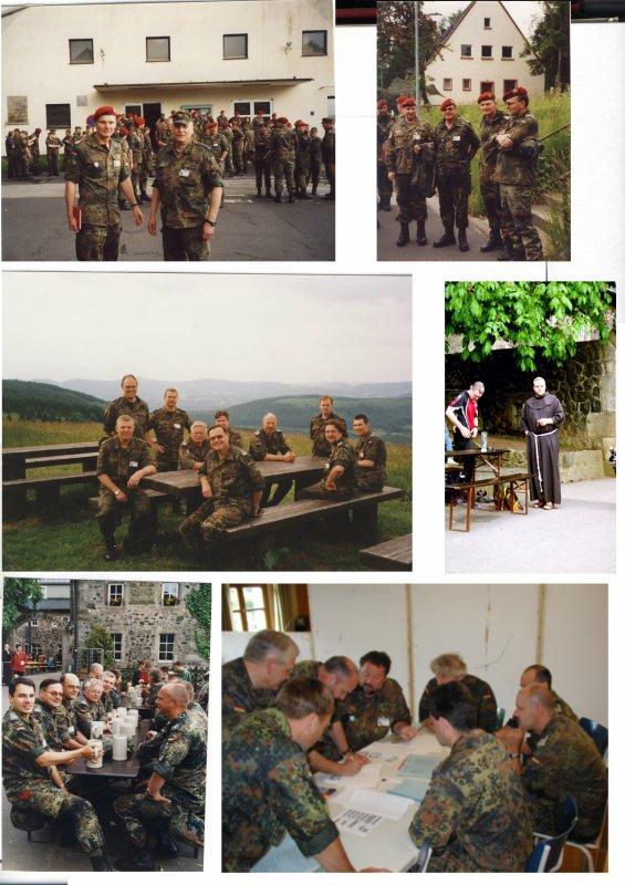 """Mobilmachungsübung LogRgt 22 Stabsrahmenübung LogBrig 2 """"Lange Wege 2002"""" vom 07.- 14.06.2002 in der Rhönkaserne in Wildflecken"""