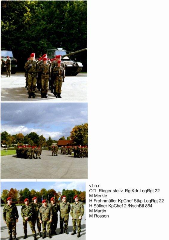 Übernahme des LogRgt 21 vom WBK IV (neu) in München am 08.10.2002 in Dornstadt