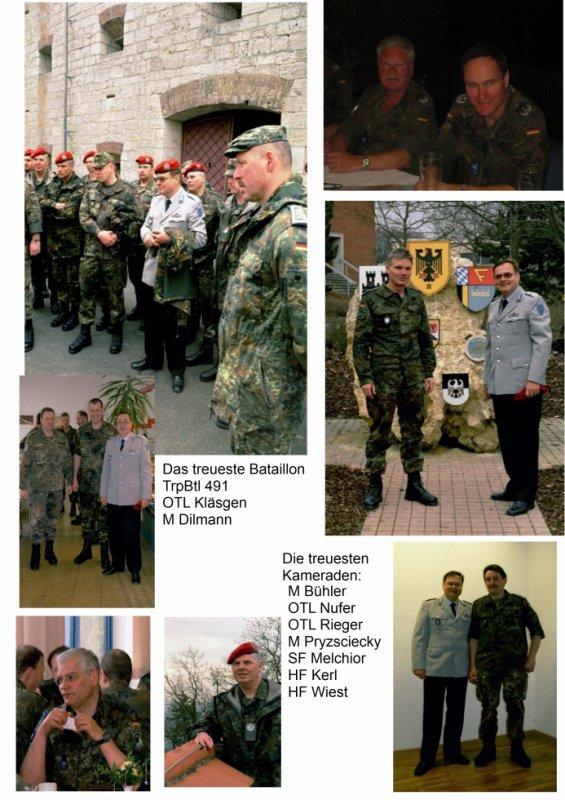 Verabschiedung Trsp 491, TrspBtl 380 und NschBtl 864 und am 28.-30.03.2003 in Dornstadt