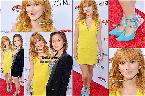 """* 03 octobre 2013 :Bella à la soirée """"Hollywood Hot List"""" !  Vous pouvez voir qu'elle est avec sa soeur. *"""