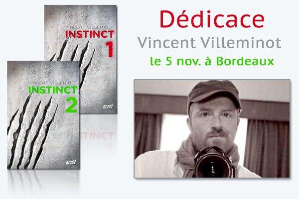Instinct : Vincent Villeminot en dédicace