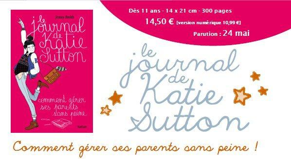 Le journal de Katie Sutton est sorti hier en librairie !